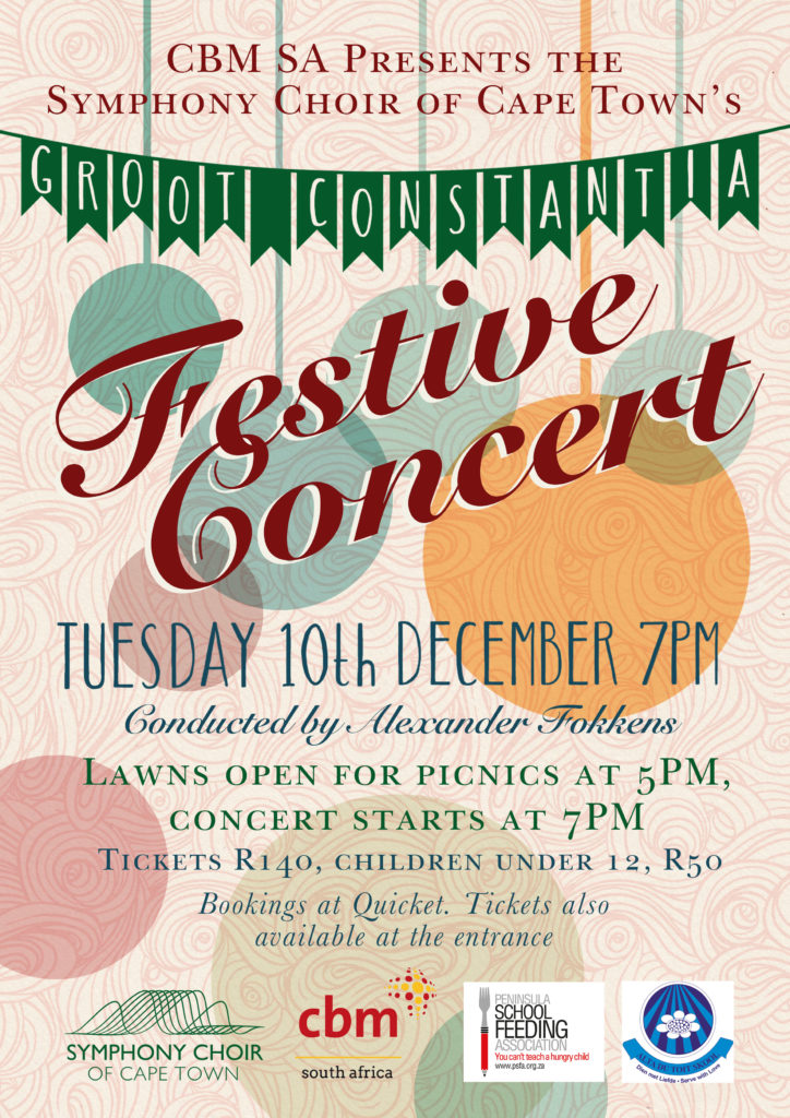 Get into the festive spirit with Christmas Carols at Groot Constantia